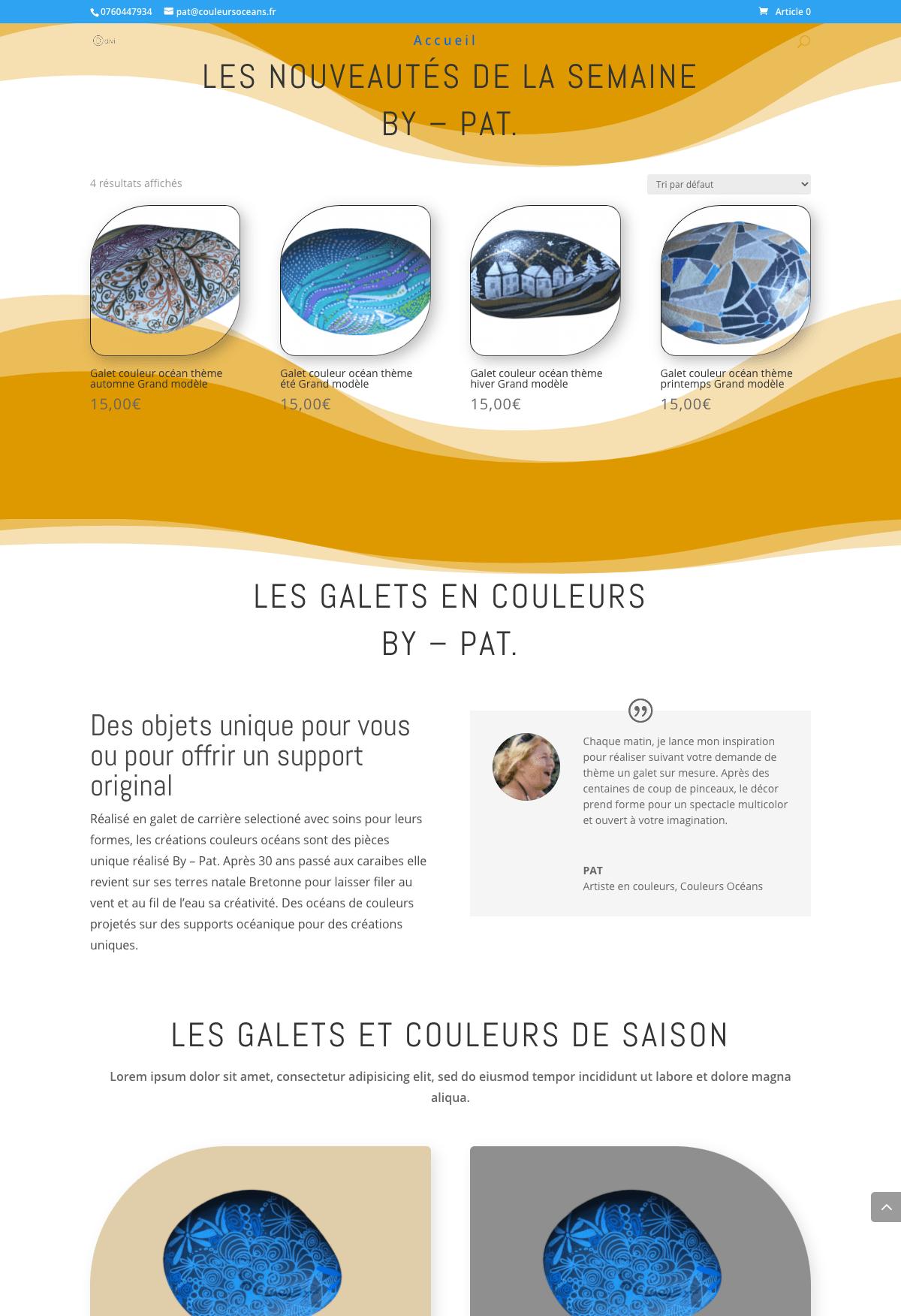 Bas de homepage site e-commerce