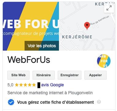 Webforus 5 église sur google my business