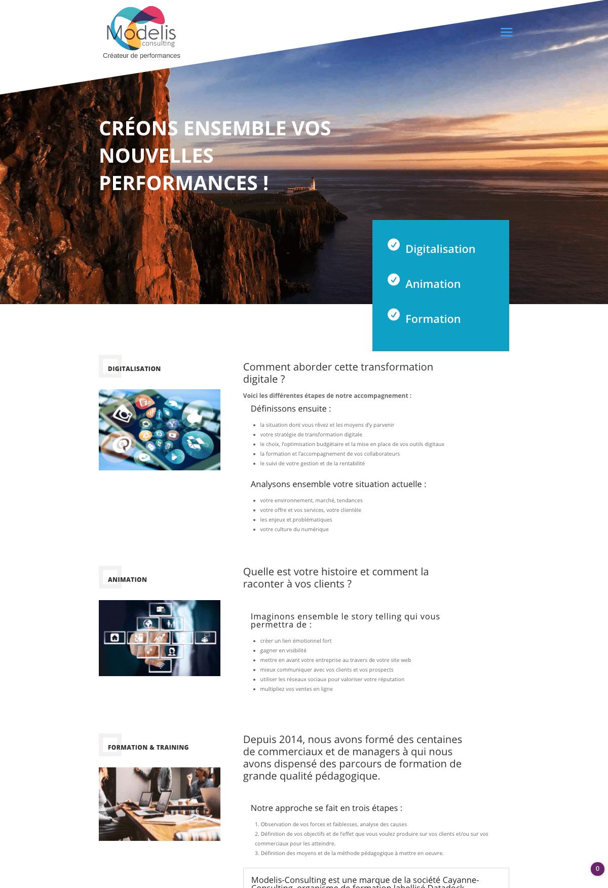 Page de présentation d'offre