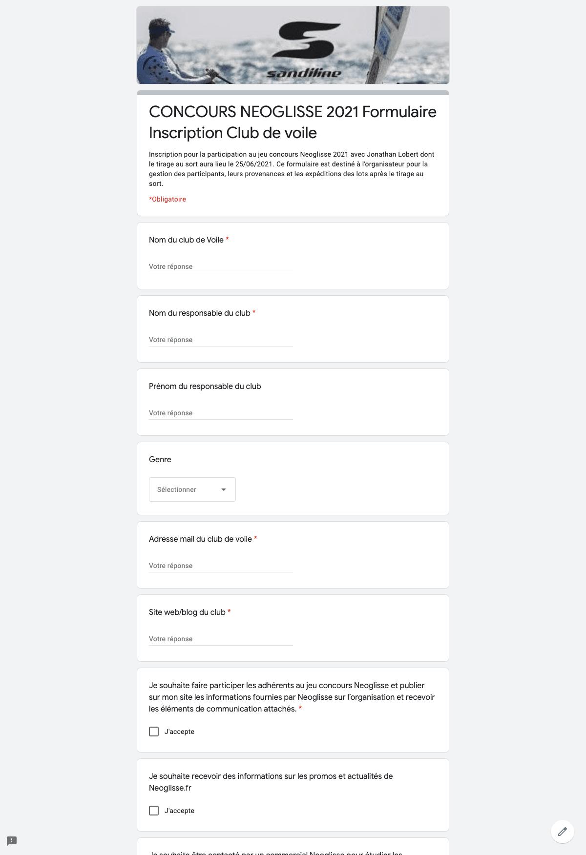 Organisation de jeu concours